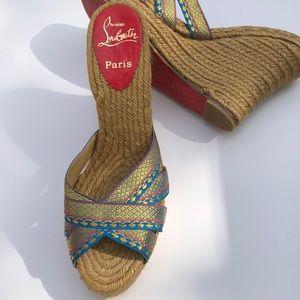 💯Christian Louboutin Red Sole Slide Sandal 9